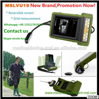 MSLVU19I NEW! Portable cheap veterinary ultrasound machine/ dog pig sheep cow horse pregnancy test ultrasound