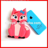 Cartoon Design Phone Case Fox Shaped Cell Phone Silicone Cover with 3D