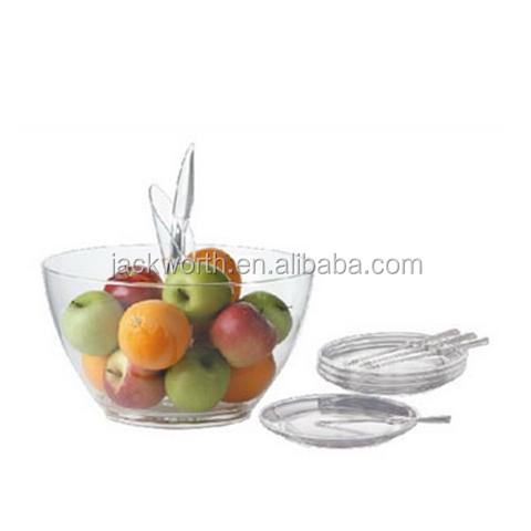 Plastic Fruit Container with Plate & Fruit Fork