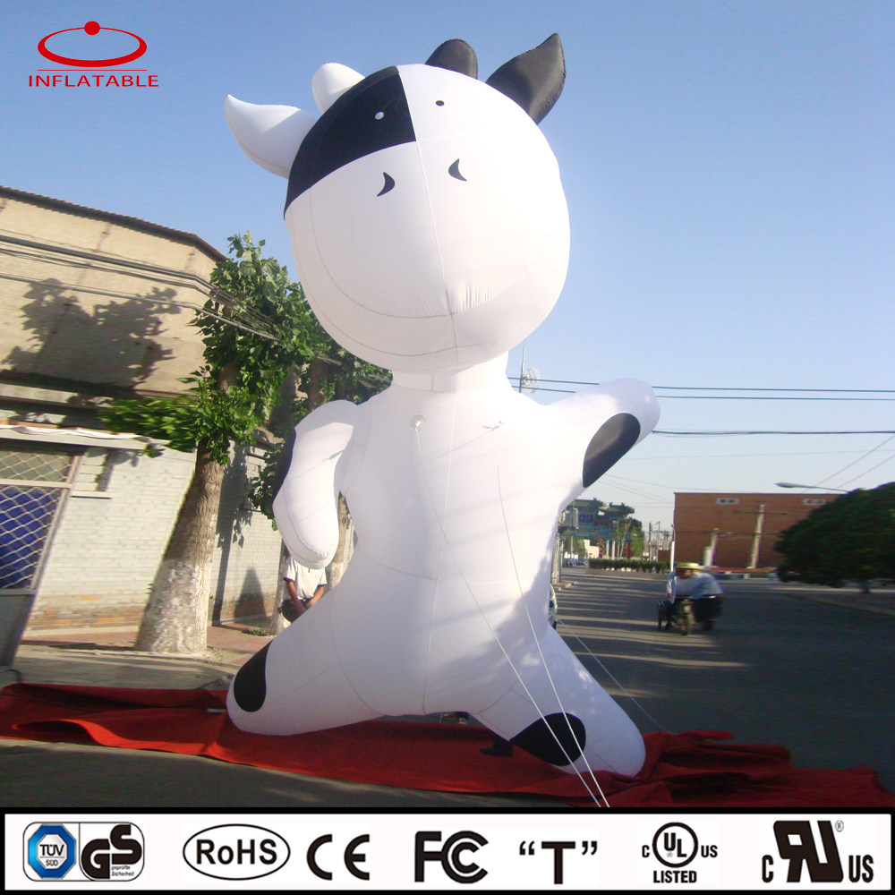 adorable inflatable animal, inflatable dairy cow, inflatable decoration cartoon