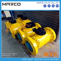 High performance full and reduced bore butted welded and flanged end casted and forged steel ball valve