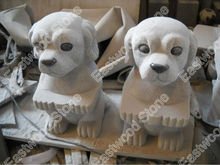 Garden stone dog small animal carving