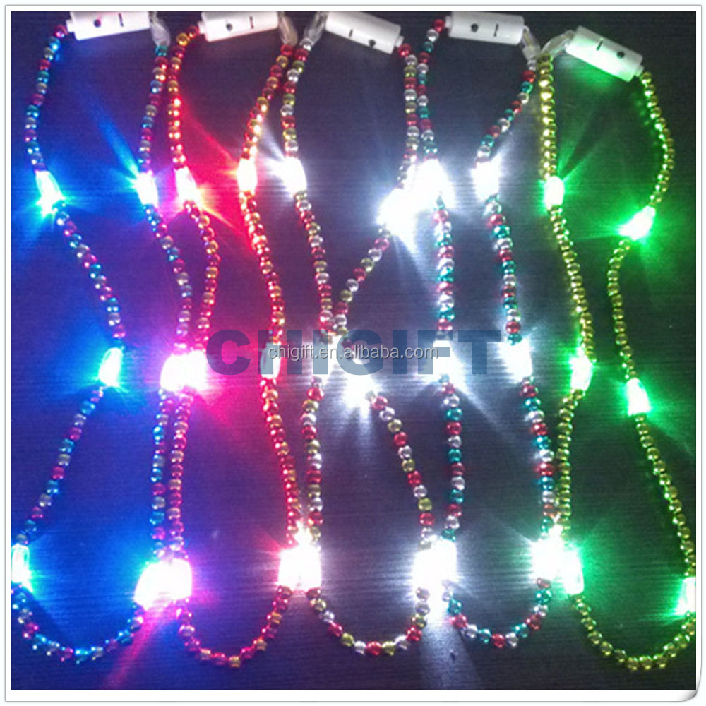 Hot Items 2016 Colorful LED Bead Necklaces
