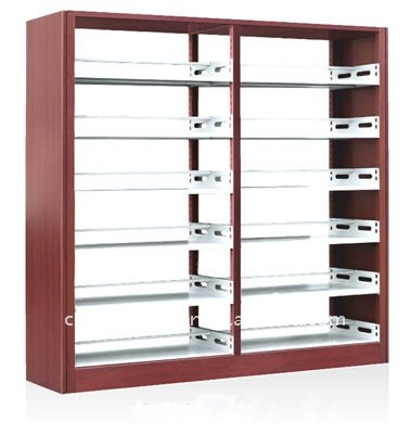 school library metal bookcase wholesale bookshelves metal book shelf - Metal Library Bookshelves