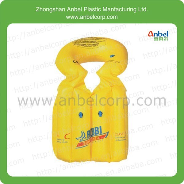 children PVC products inflatable yelllow life jackets
