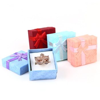 Cheap price 4*4*2.6 gift packaging hard paper jewelry box set