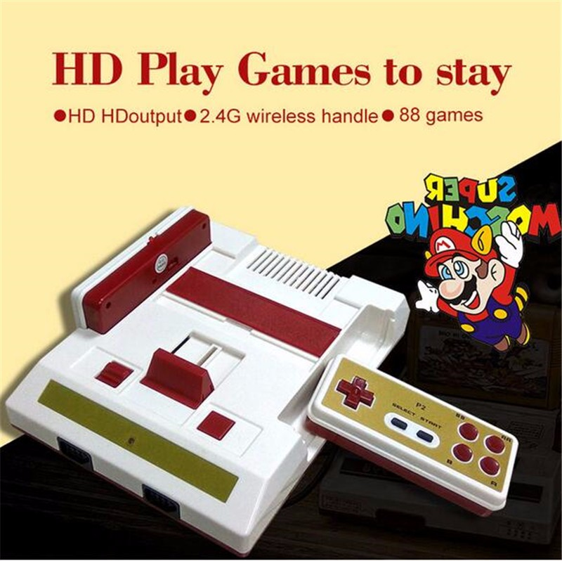 Newest tv game wireless controller Family Computer Video Game Console hd mi cable tv out for fc 8 bit games
