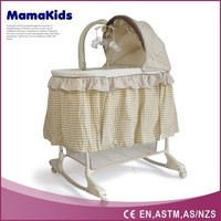 adjustable canopy baby bassinet EN71 passed baby cradle