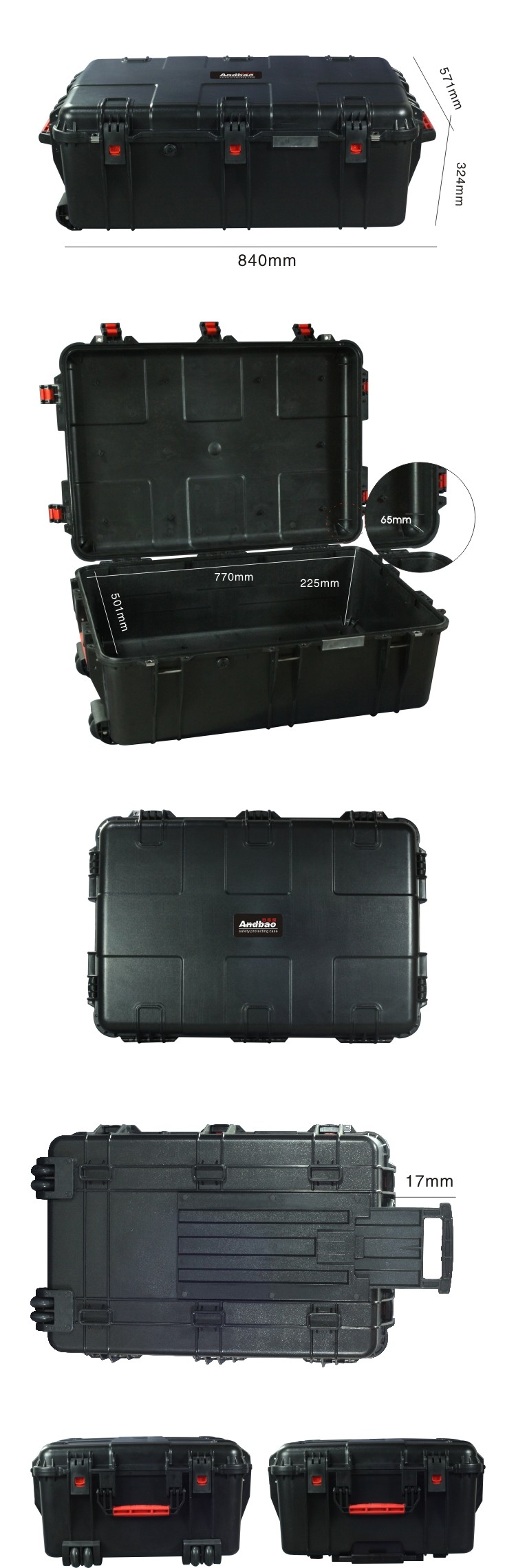 abs carrying tool storage case