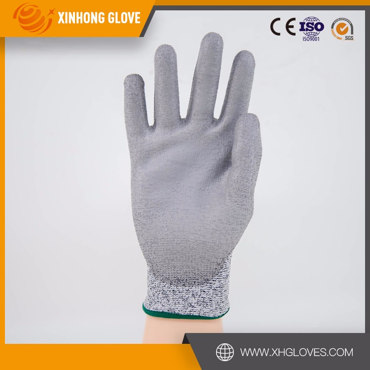 En388 cut & heat resistant gloves pu coated hand safety gloves