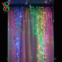 outdoor color changing rubber cable party decoration LED curtain lighting