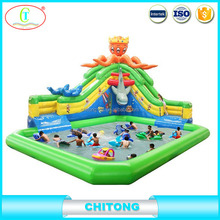 Slide Equipping A Inflatable Pool / Inflatable Water Slide Clearance