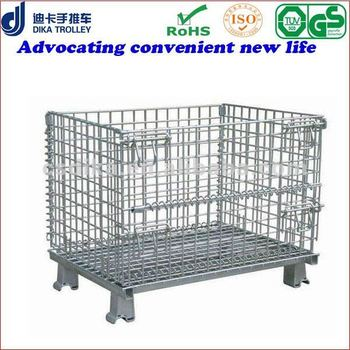 collapsible wire pallet basket