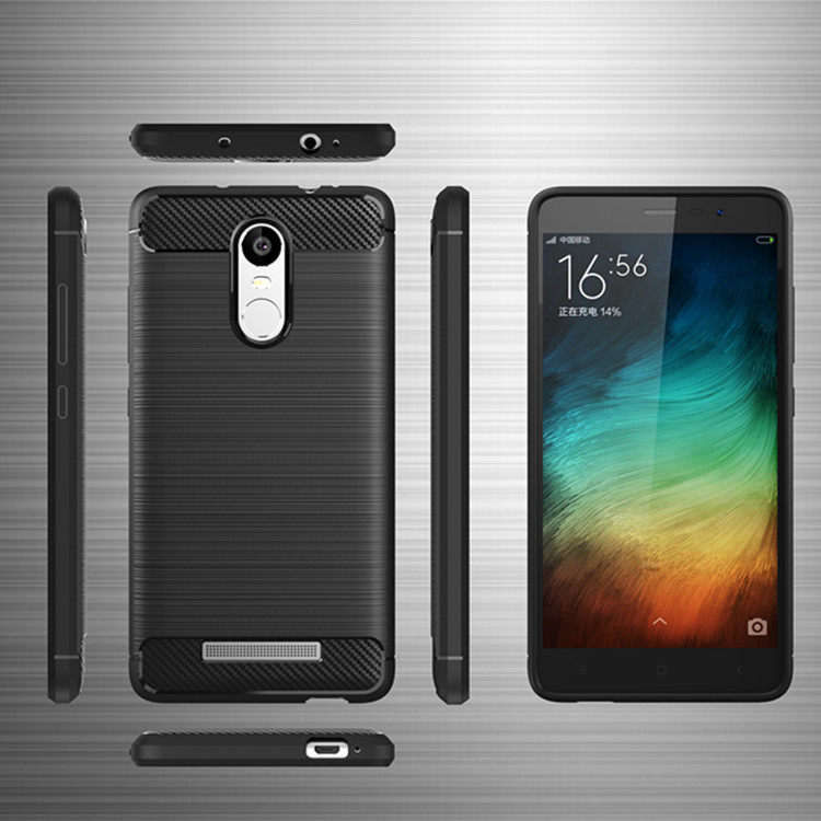 Hot selling carbon fiber TPU case for Redmi note 3 shockproof tpu phone case