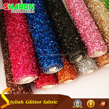 HOT tinsel glitter pu fabric for Christmas box (SR16116)
