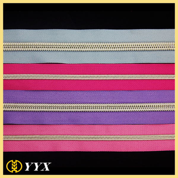 3# 5# 8# 10# Silver Teeth Nylon Zipper Roll Chain for Tent