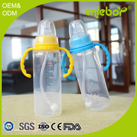 Baby Feeding Product PP material 240ML Standard Neck Straight Unique Baby Bottle