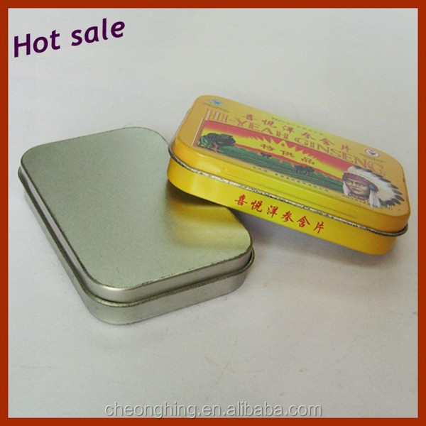 Fashional design Rectangular Handle Mini Gift Tin Can