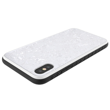 Crystal White Sea Shell Hybrid TPU PC Cell Phone Case For Iphone X