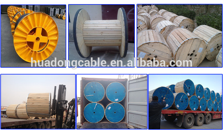 Waterproof 1kv 35kv 4C x 300 SQ MM AL XLPE 4 core armored underground cable