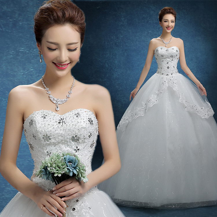 Top quality best selling women pink and white wedding dresses