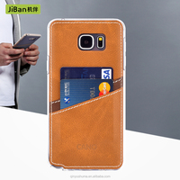 PU Leather Phone Case Back Cover With Card Slots For Samsung Galaxy S6 S6 edge