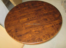 Restaurant semi-glossy finish drop edge round resin coated table top