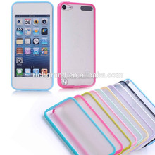 Plain hard silicone matte back case cover for ipod touch 5