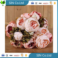 Sai ying Vintage Artificial Peony Silk Flowers Bouquet flow x3artificial fabric flowe