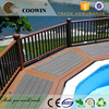 building materials composite decking green color
