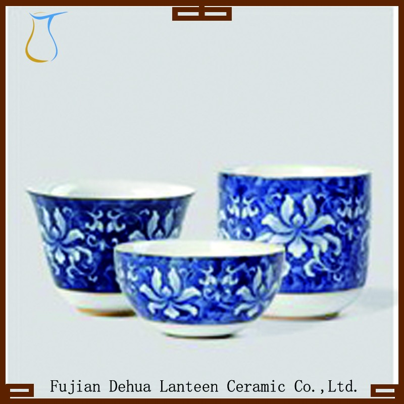 Chinese porcelain tea <strong>cups</strong> blue and white porcelain