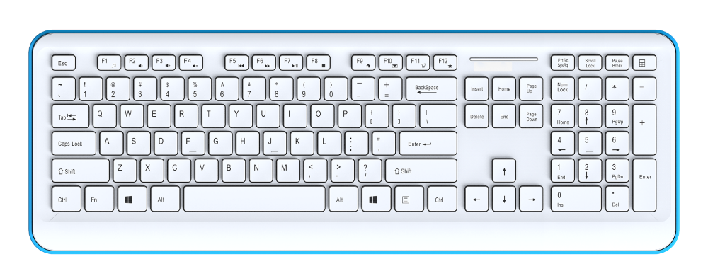 laptop mini external keyboard with colored design