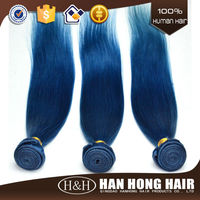 2015 Wholesale Fashion Peruvian Human Hair Extension Silky Straight Color Blue Braiding Hair
