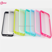 Slim Thin Colorful TPU PC Transparent Clear Matte Case For Apple iPhone 5 Candy Soft Frame Cover For iPhone 5s