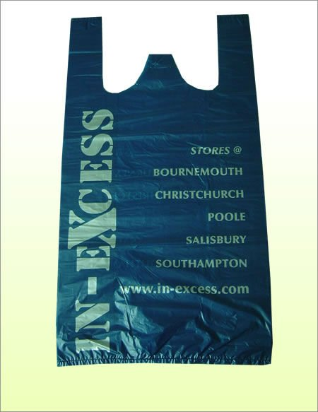 biogradable vest blue carrier bags