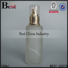 150ml frosted large glass spray bottle uk with clear over top cap