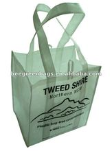 Recycled PET non woven 6 bottle wine tote bag