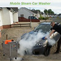 2015 CE tested full mobile portable LPG gas 20bar lpg dry steam car wash machine for waterless steam