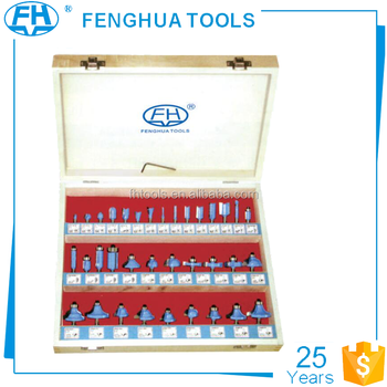 FH-35B YG8 35pc router bit set for wood