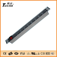 "19"" 9 ways USA pdu socket power strip"