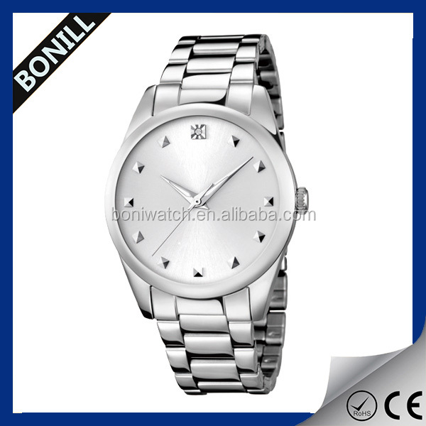 Custom wrist watch water resistant japan movt stainless steel case back quartz vogue watch