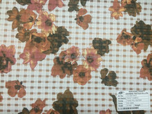floral design/made in china/ crystal organza/jacquard printed voile fabric /girl's garment/
