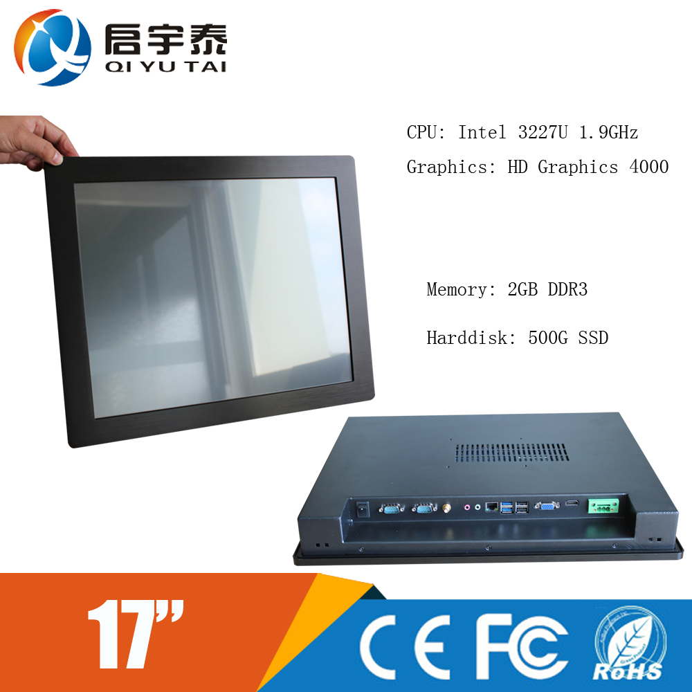 High configuration 3227U 1.9GHz LCD monitors tablet pc touch computer 17 inch