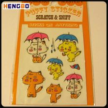 High performance excellent quality cartoon bubble stickers from China