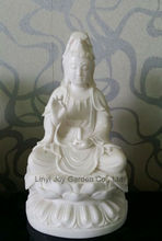 Chinese Hand Craft God Marble Stone Kuan Yin Statue