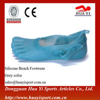 Custom Top Quality Beach Footwear Silicone Beach Shoes Five Finger