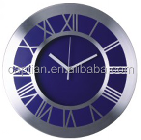 hotsale metal craft round wall design clocks roman numeral