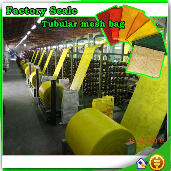 Recycable Tubular plastic mesh bag for onion potatoes
