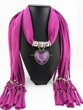 Red heart scarf newest scarf pendant jewel jewelry resin heart pendant scarf