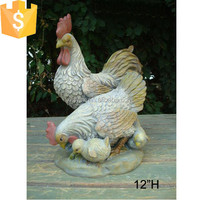 Fiberglass family chicken garden decoration chicken